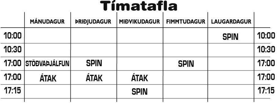 Tímatafla 2013-2014